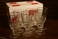 CASE OF 6 LA ROCHERE PONTARLIER ABSINTHE GLASSES, PLUS 6 WORMWOOD ABSINTHE SPOON