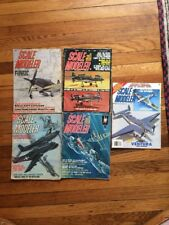 Scale Modeler Magazine Lot (5) Issues 1971-1989 Model Airplanes Jets Vintage