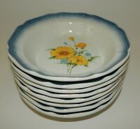 """Set of 8 Vintage Mikasa Country Club Dinnerware Amy Floral 8.5"""" Bowls Japan"""