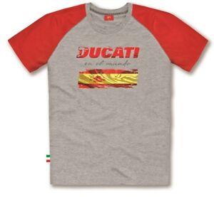 Ducati Flag Spain Short Grey Red New