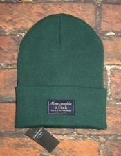 b35c5c568650 MENS ABERCROMBIE & FITCH GREEN BEANIE HAT ONE SIZE