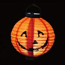 LED Pumpkin Paper Hanging Lantern Lamp Chinese Decor Halloween Party Round Light