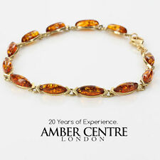 Italian Made Baltic Amber and 9ct  Gold Bracelet -GBR069  RRP£475!!!
