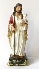 "JESUS THE GOOD SHEPHERD STATUE - 5"" Resin Florentine Figurine / Statuette"