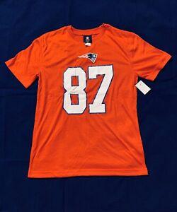 New NFL New Egland Patriots #87 Rob Gronkowski Boys Youth Red Jersey Shirt Sz L