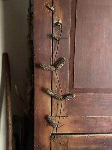 Long Old Handmade Metal Wire Corn Dryer Grungy Cobs Patina Fall AAFA Hanging