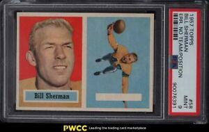 1957 Topps Football Bill Sherman BLANK BOX #58 PSA 9 MINT