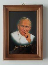 Pope John Paul II Framed Picture Photo Wall Hanging, Swiety Jan Pawel II.