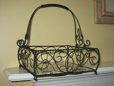 Southern Living at Home Jamestown Centerpiece #40641 Iron Basket w/glass insert