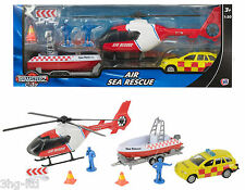 Teamsterz Air Sea Rescue Helicopter Boat Car Jeep Figure Toy Bundle Playset New