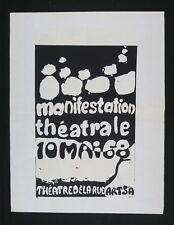 Affiche originale Mai 68 manifestation étudiant barricade politique Paris p 175