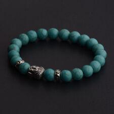Charm Men Women 8MM Natural Stone Buddha Head Energy Reiki Bracelets Jewelry