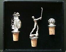 New listing Vtg Nib Eton Golfer'S 1998 Wine Stopper/Cork Set of 3 Diff't Ones Nice - Look!