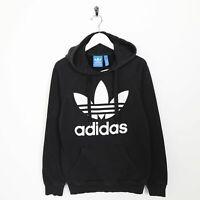 Vintage ADIDAS ORIGINALS Big Logo Hoodie Sweatshirt Black | XS