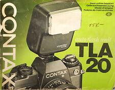 Contax tla20 manuale d'uso/Manual-DE/EN/IT/FR - (81731)
