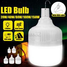 5 Modes 20W-150W Solar Charging LED Bulb USB Rechargeable Light Flood Lamp Yard
