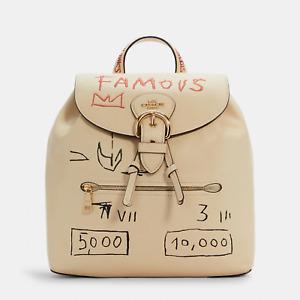 NWT C5662 Coach X Jean Michel Basquiat Kleo Leather Backpack *Sealed*