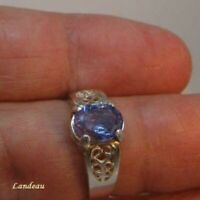 1.9 ct BLUE VIOLET TANZANITE SILVER RING