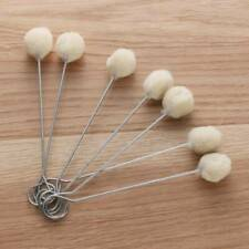10 Pieces Wool Daubers Ball Brush Leather Dye Dauber Dyeing Applicator Q