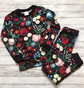 NWT Hanna Andersson Festive Flowers Pajamas Long Johns 100 Cm 4 Y