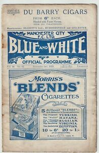 Manchester City V Newcastle United Extremely Rare Division One Programme 1923