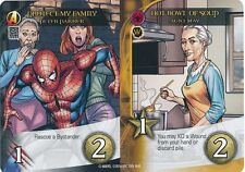 PETER PARKER Upper Deck Marvel Legendary AUNT MAY PROTECT FAMILY/HOT SOUP DUAL