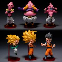 Dragon Ball Z Super 6PCS Saiyan Goku Goham Buu Boo WCF Figure