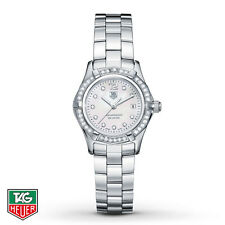 TAG HEUER AQUARACER DIAMOND DIAL & BEZEL MOTHER OF PEARL SILVER WATCH $6000+