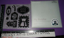 HOME FOR THE HOLIDAYS CLING ACRYLIC STAMPS CLOSE TO MY HEART CTMH