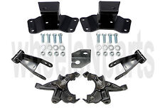 Lowering Kit Spindles Shackles Hangers 1988-91 Chevy GMC 1/2 Ton Truck 2/4 Drop
