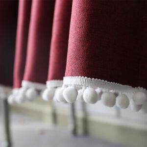 Kitchen Curtain Cafe Home Window Drapes Short Half Curtains Linen Treatment Door