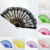 HD_ Vintage Lace Flower Handheld Folding Fan Wedding Party Dancing Prop Gift Coo