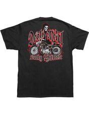 Lucky 13 Death Metal Black T-shirt Biker Motorcycle