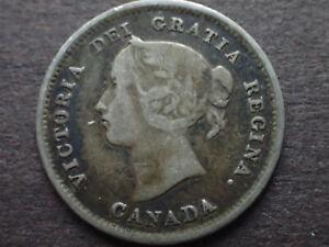 Canada 5 Cent Silver 1888