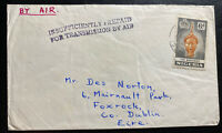 1958 Ijebu Ode Nigeria Airmail Postage Due Cover To Dublin Ireland
