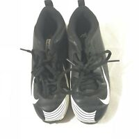 Nike Cleats Size 1y BSBL Black White
