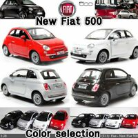 FIAT 500 12,5 CM Pull Back & Go Model Diecast Toy Car Miniature