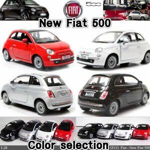 FIAT 500 12,5 CM Pull Back & Go Model Diecast Toy Car Miniature