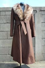 100% auth VTG Aquascutum of london Aqua5 real fur collar COAT made in england