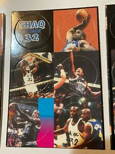 Vintage Shaquille O'Neal Pogs / Milk Caps on Card Orlando Magic 32 1990s