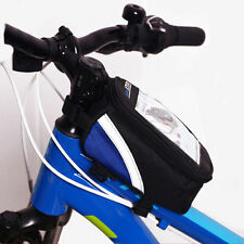 New Waterproof Cycling Bike Bicycle Front Frame Pannier Tube Bag For smartphone