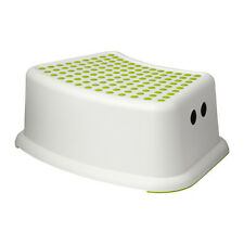IKEA FORSIKTIG Childs Childrens Kids Non Slip Safety Step Stool Green Dots