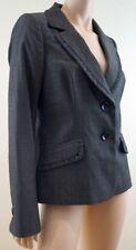 CLASSIQUES ENTIER Dark Grey Pleated Wool Mix Evening Blazer Jacket 10 UK14 BNWT