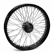 "Ultima Black 60 Spoke 21"" x 3.5"" Single Disc Front Wheel for Harley & Custom"