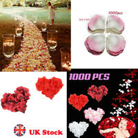 1000 Pcs Silk Rose Petals Engagement Wedding Baby Birthday Christmas Celebration