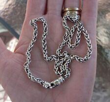 David Yurman 4 mm 16 Inch Wheat Chain Neckace - Gift Boxed