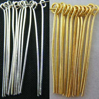 6 Size Wholesale Silver Gold Plated Eye Pins Needles Jewelry Making Findings Hot