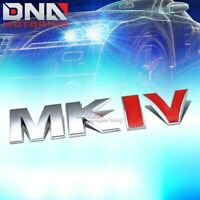 FOR VW MK IV GOLF/JETTA STICK ON 3D CHROME RED AUTO METAL EMBLEM TRIM BADGE LOGO
