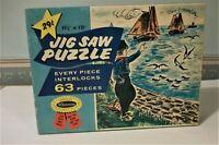 Vintage Whitman Jigsaw Puzzle Sail Boat Dutch Boy Theme Complete Puzzle