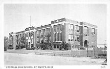 Nelsonville Ohio c1940-50s Postcard Memorial High School Athens County